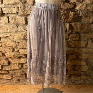 Indigo Soul Mesh Skirt NWT SIZE Large